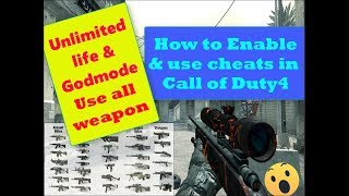 How to enable & put Cheats in Call Of Duty 4 in PC | Easiest Way | Cod4 Cheats Tutorial (PC) |cheats