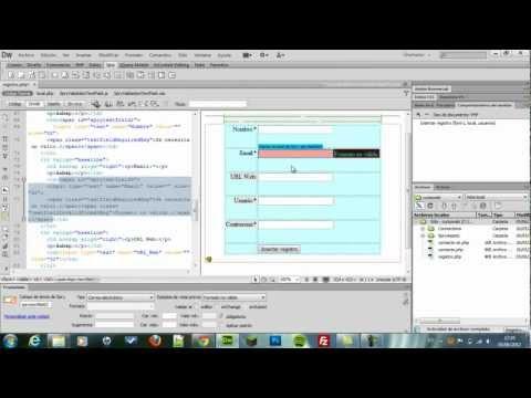 [Parte1]Sistema de Login y Registros con PHP, MySql, Dreamweaver...Tutorial Página Web[Cap.2]