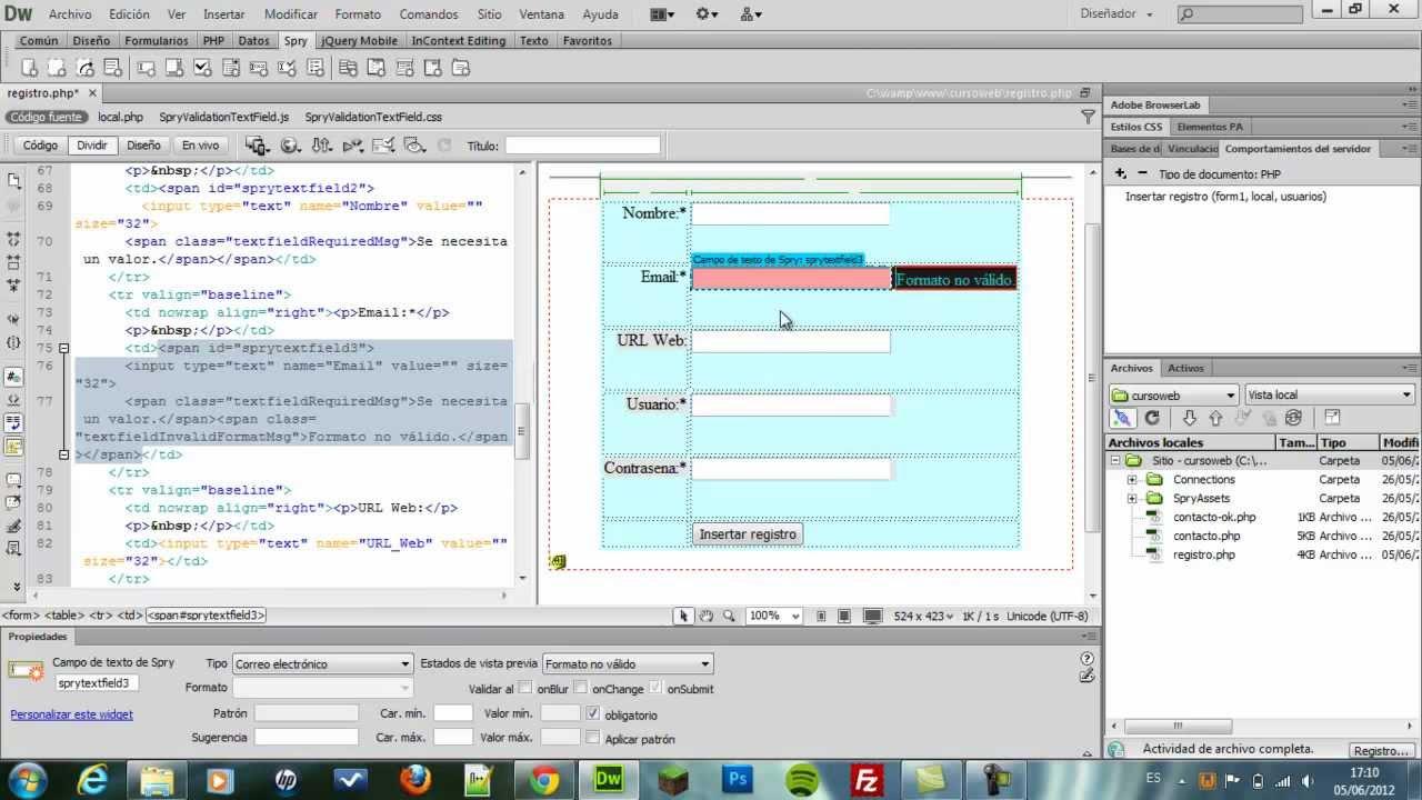 Parte1]Sistema de Login y Registros con PHP, MySql, Dreamweaver ...
