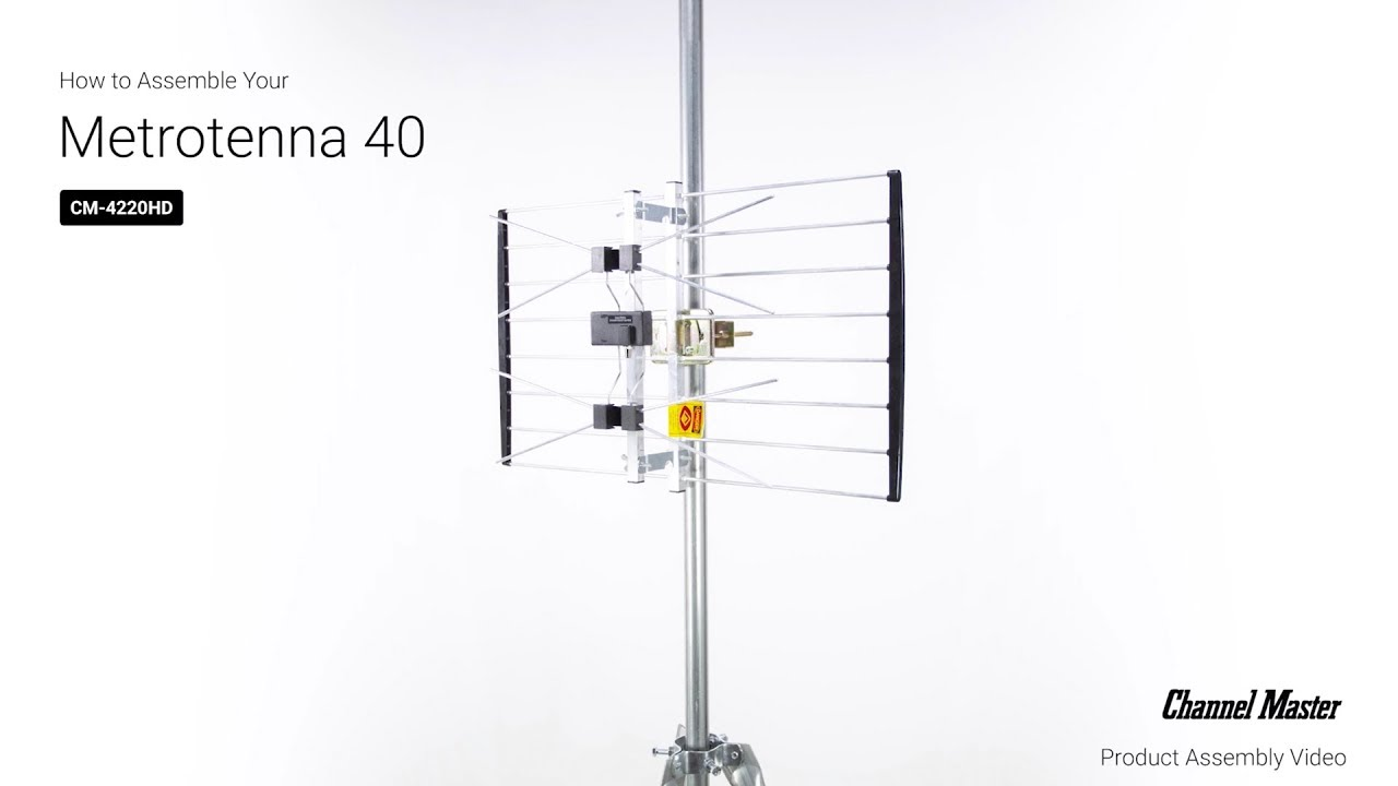 How to Assemble the METROtenna 40 Outdoor TV Antenna [CM-4220HD]