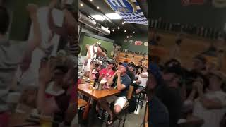 RAW VIDEO: French improvisational troupe celebrates French victory in Sarasota