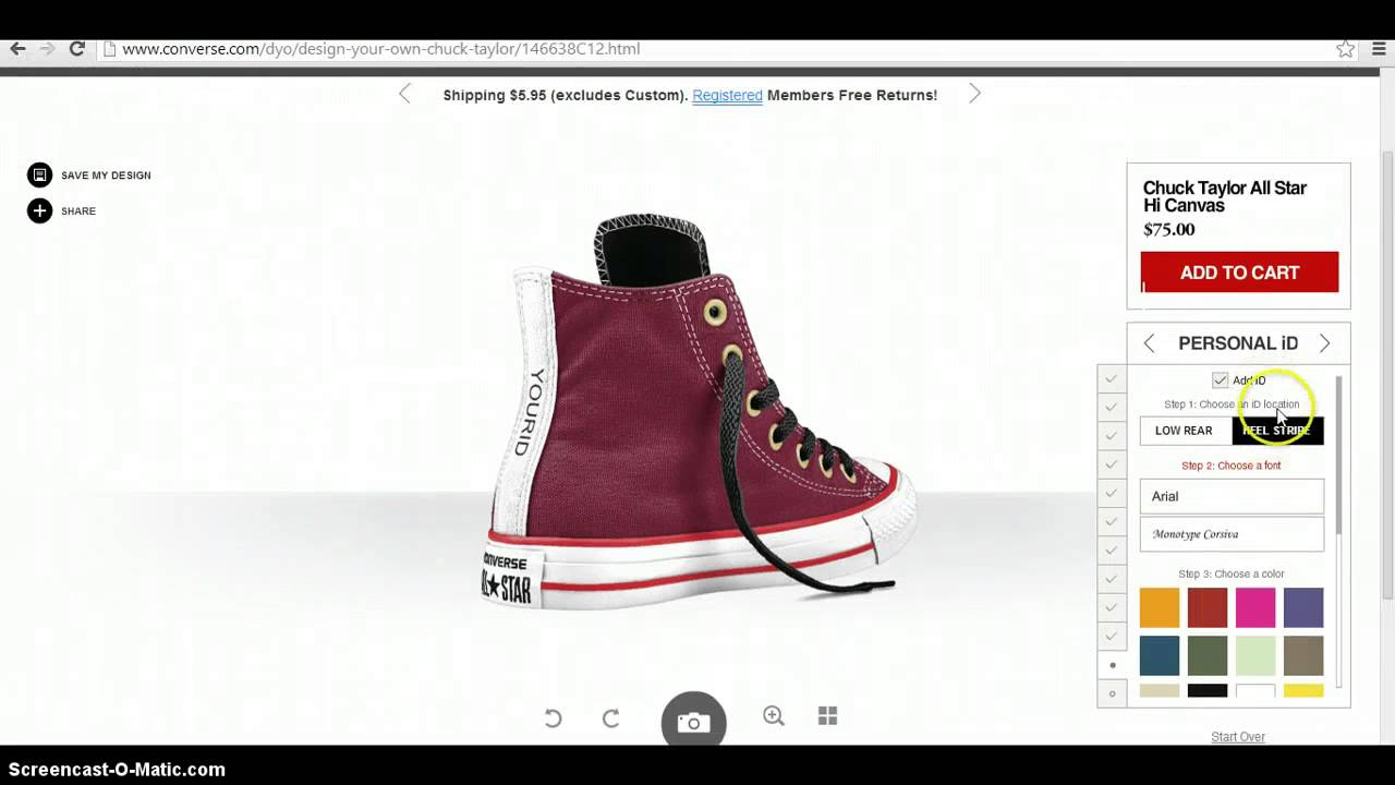 2c1fd66f1 how to design your own shoes online - YouTube