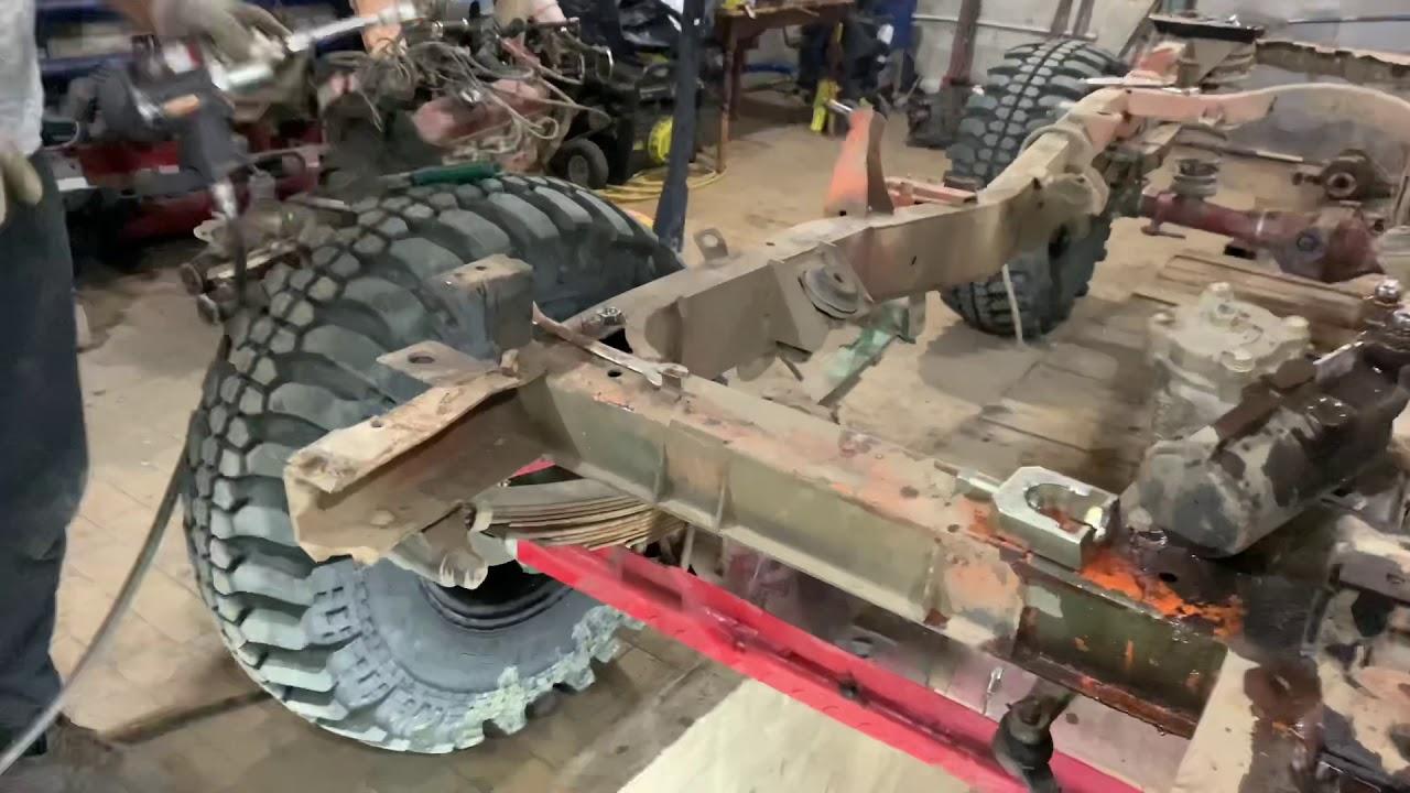 Уаз-469. разобрал раму - YouTube