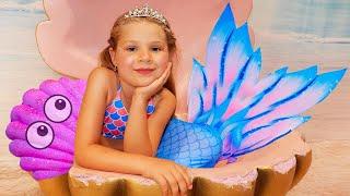 Diana se convirtio en una Princesa Sirenita