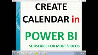 إنشاء التقويم في السلطة BI