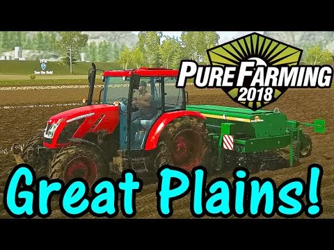 Let's Play Pure Farming 2018 #4: Great Plains!