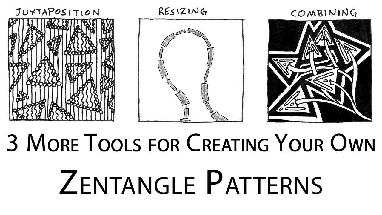 How to Doodle Your Own Zentangle Patterns (Part 2: Advanced Tools) - Step  by Step Drawing Tutorial