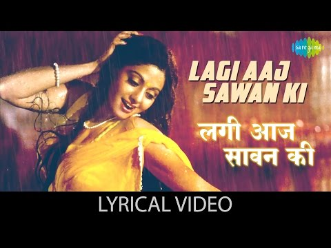 Lagi Aaj Sawan With Lyrics  लगी आज सावन गाने के बोल  Chandni  Sridevi & Rishi Kapoor