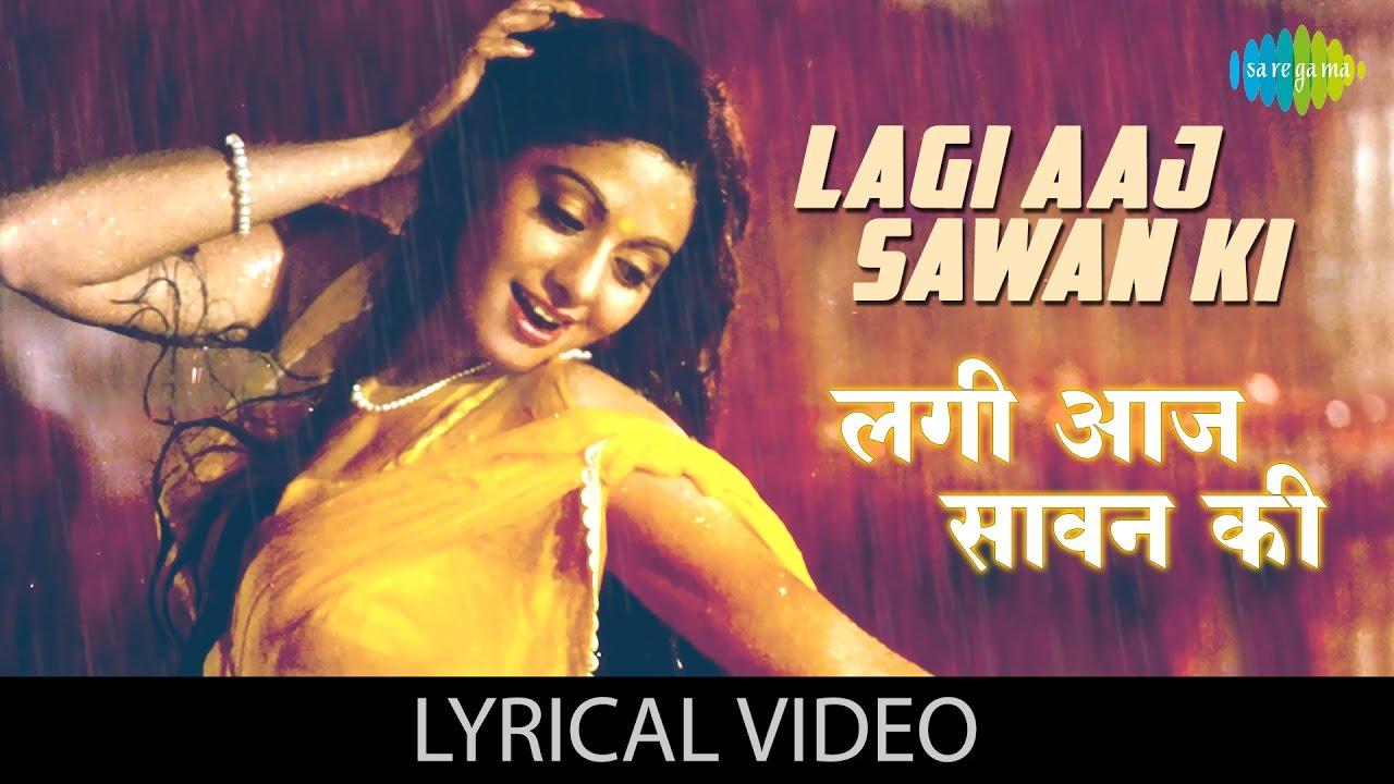 Lagi aaj sawan with lyrics | लगी आज सावन गाने के बोल | Chandni | Sridevi & Rishi Kapoor