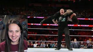 WWE Raw 1/11/16 Roman vs ALL
