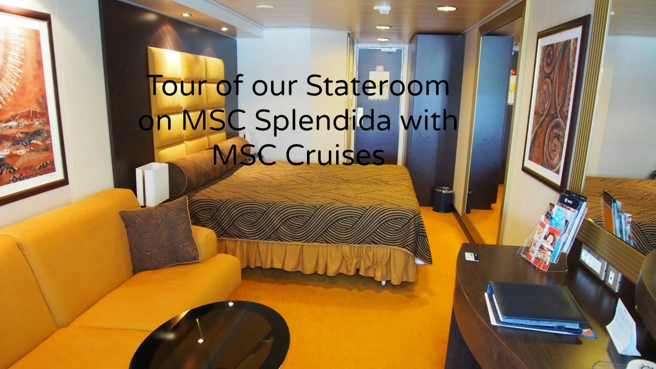 Our Stateroom on MSC Splendida with MSC Cruises - YouTube
