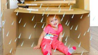 Rain Rain Go Away Song with Katya and Little Baby Doll Dima