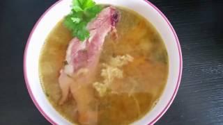 Очень вкусный гороховый суп с копчеными ребрышками!!!