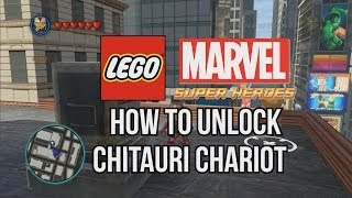 How to Unlock Chitauri Chariot - LEGO Marvel Super Heroes