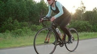 Female Athlete Training for Road Bicycle Race | Videohive Project Templates