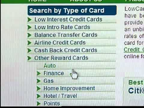 Finding the right credit card for you