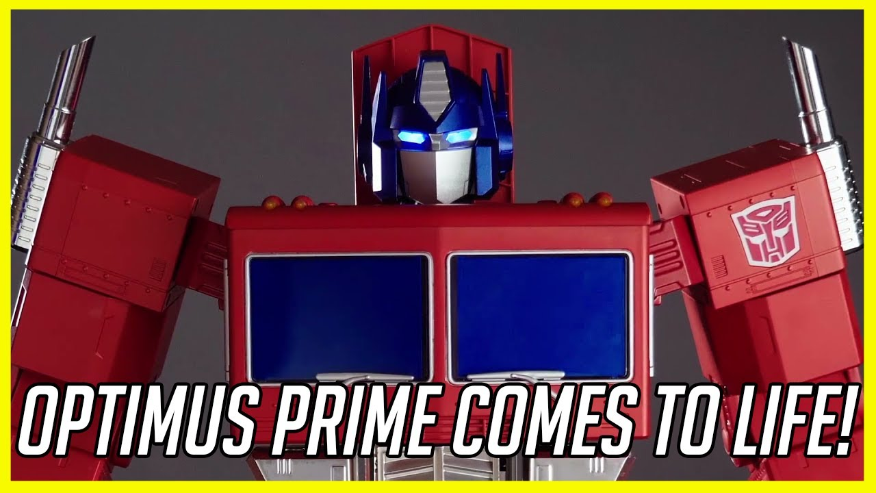 self transforming optimus prime youtube