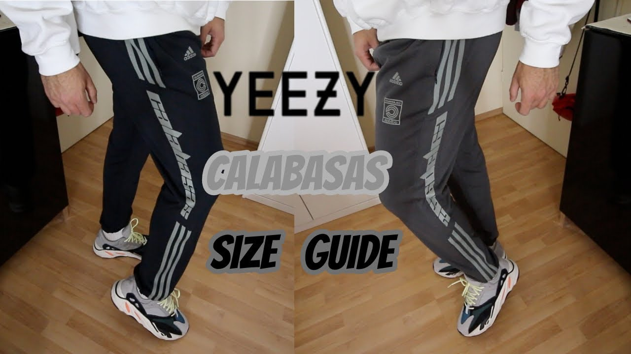 038f6592 SIZING UPDATE: ADIDAS YEEZY CALABASAS PANTS LUNA/INK/WOLVES UNBOXING ...