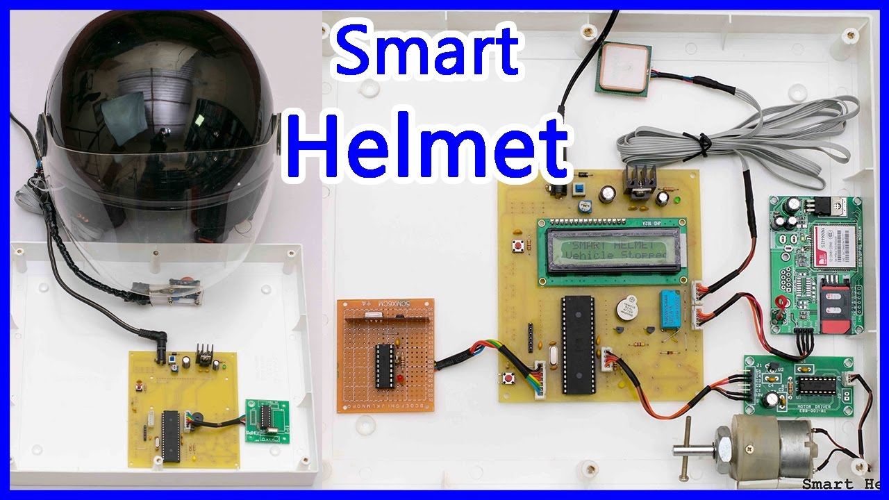 How To Make Smart Helmet Youtube Sim900gsmmodule Electronic Circuits And Diagramelectronics