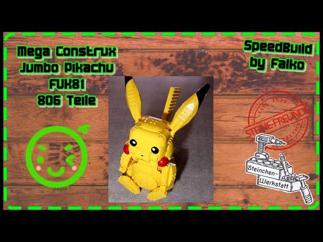 Pika-Pikachu | SpeedBuild | Mega Construx | FVK81 | Jumbo Pikachu | Steinchen-Werkstatt