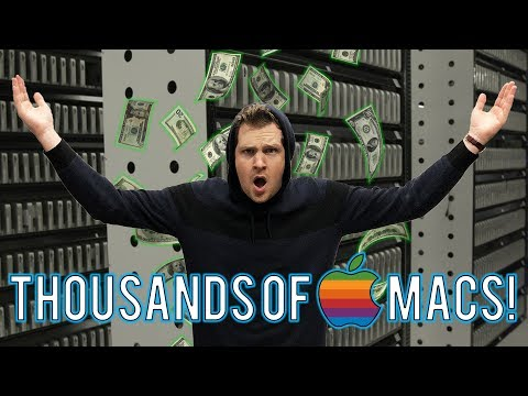 Inside a Huge Data Center Filled with Apple Mac Computers