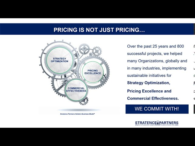 Pricing is not just Pricing …..