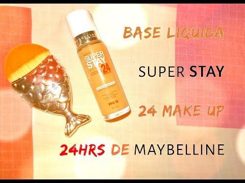 BASE SUPER STAY 24 MAKE UP (24HRS) DE MAYBELLINE 😱😱🙈💕💕