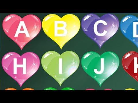 ALPHABET - ABC song with Cute heart shape   Alphabet Song ...