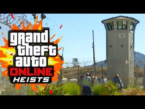 PRISON BREAK HEIST (GTA 5 Heists Funny Moments) #1