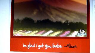 Alison & Anthony im glad i got you, babe jibjab video