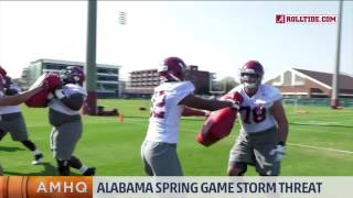 Storm Threat for Spring Football