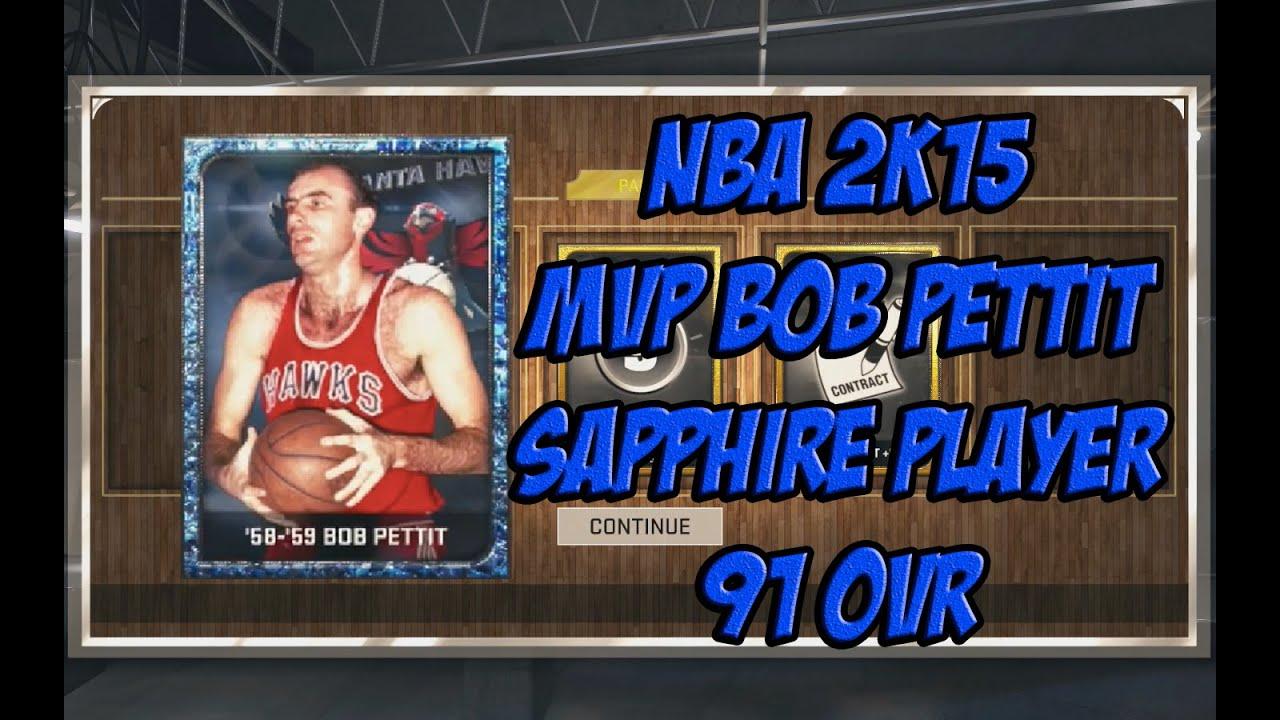 NBA 2K15 SAPPHIRE MVP Bob Pettit 91 OVR
