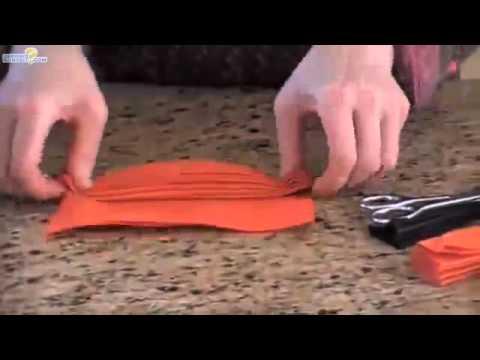 Pliage de serviette en roue youtube - Pliage de serviette etoile facile ...