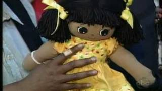 Adoptable Kinders rag dolls showcased on ABC's The View with Whoopi...