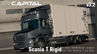 "[""Rigid chassis for RJL Scania T & T4"", ""Kraker/NTM/VAK/Ekeri"", ""Kraker/NTM/VAK/Ekeri addon for scania T"", ""RJL Scania T & T4 (Kraker/NTM/VAK/Ekeri) - ByCapital v3.2"", ""Rigid chassis addon for Scania T and T 4-series by RJL"", ""Rigid chassis addon for Scan"