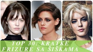 Top 30 kratke frizure sa šiškama