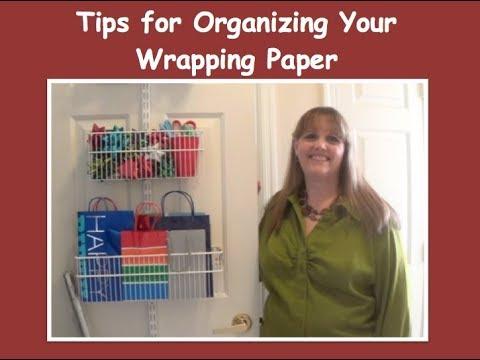 Organizing Your Wrapping Paper (Organizer AZ 911)