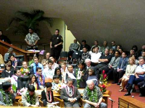 Act 221, Rep. Lynn Finnegan, Opening Day at the Hawaii State Legislature, 2009