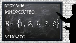 Изучаем математику с нуля / Урок № 16 / Множество