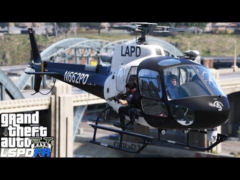 GTA 5 LSPDFR Police Mod 340   LAPD SWAT In Helicopter Eliminates Hostiles Inside The Police Station
