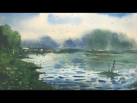 How to paint watercolor without pencil drawing | Watercolor tutorial by Prashant Sarkar.