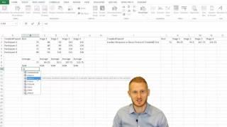 Standard Error of tнe Mean in Excel