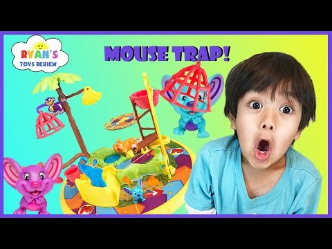 Family fun game for kids Mouse Trap Egg surprise Toys Challe