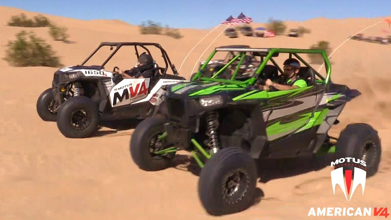 MOTUS MV4 RZR vs Turbo XP 1000 @14psi Boost
