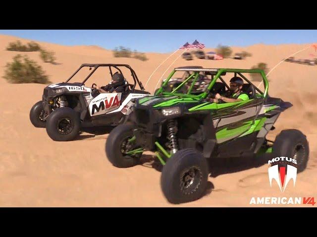 MOTUS MV4 RZR vs Turbo XP 1000 @14psi Boost