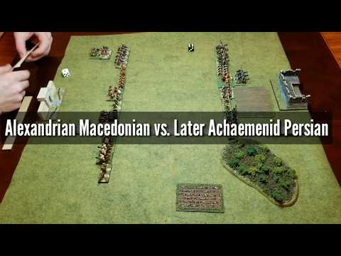 Alexandrian Macedonian vs. Later Achaemenid Persian DBA 3.0