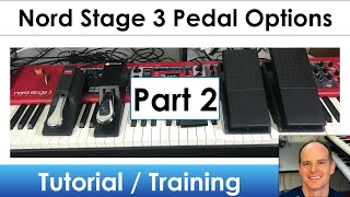 Nord Stage 3 | Learn All About the Pedal Options (Part 2)