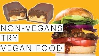 Vegan Taste Test | Vegan Chicken | Vegan Snickers | Vegan Sliders | Collab with Hellthy Junkfood