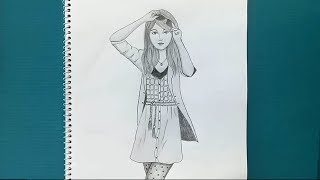 How to draw a girl step by step (very easy )