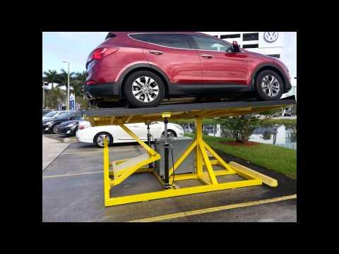 Creative car display ramps